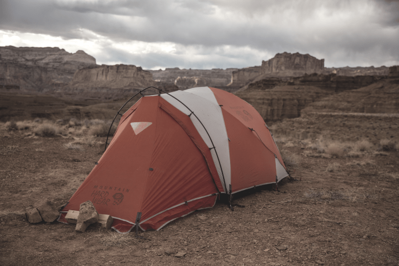 instant tent near the grand canyon