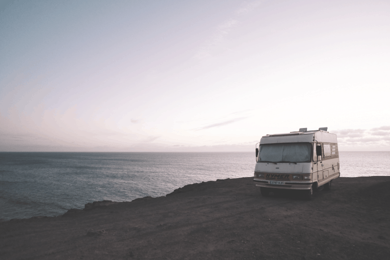 rv on the seashore